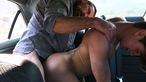 FamilyDick.com - Driver Josh Hunter cum inside at the backseat