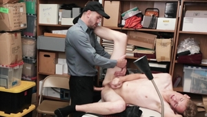 Young Perps - Officer Hunter Grey with Wesley Woods striptease
