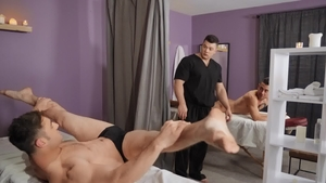 DrillMyHole: Collin Simpson together with Dante Colle massage
