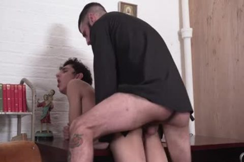 Sinful lad Punished By sleazy Priest