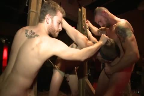 submissive Hunk team-nailed By Strangers