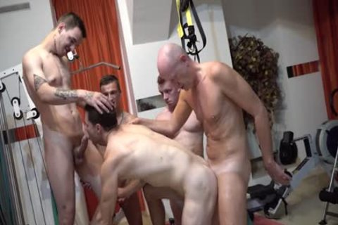 Walter receives fucked Hard By Four young boyz
