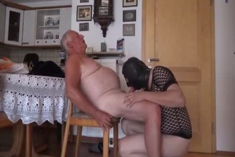 Super pleasant old man And Masked Unusual lad engulf And pound On