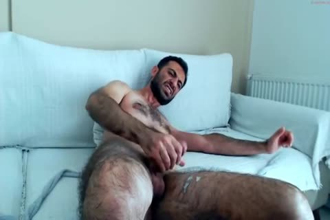 bushy Hunks jerking off On webcam