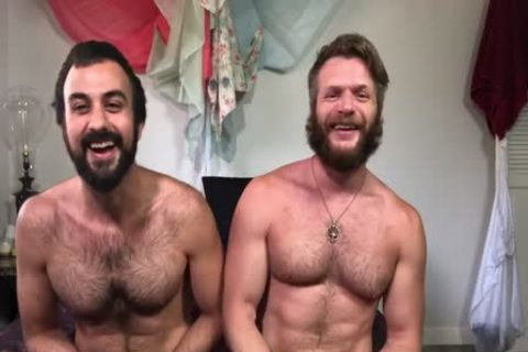 Muscled shaggy And Bearded