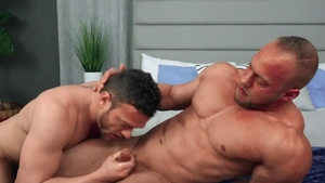 SeanCody: Sean with Brock licking ass in the bed