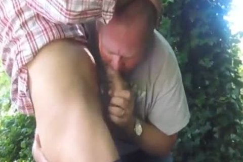 filthy Married daddy Cruising In The Woods