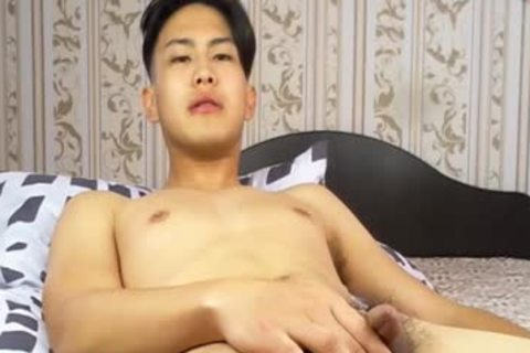 pretty Korean lad Tugging petite rod And Shotting Loads Of cum