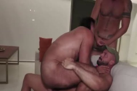 lustful threesome bang After bare Beach