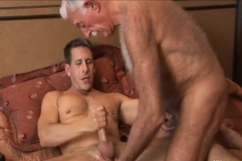 hirsute grandpa Mutual Masturbation With Younger Coworker