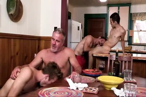 boyz Have fun With Step-dad And Grampa