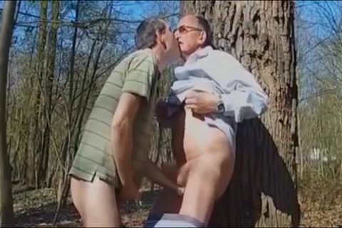 DADDY slamming daddy man IN THE WOODS three