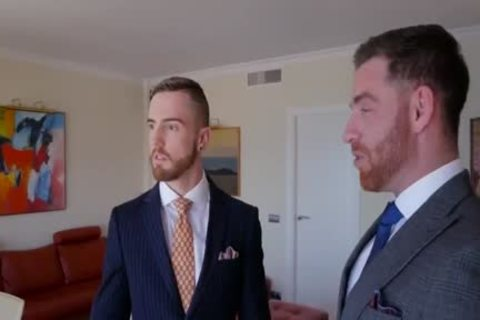 gay Suit oral job-job And butthole