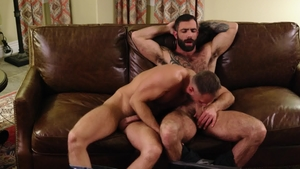 Icon Male - Brown hair huge penis Jake Nicola blowjob cum