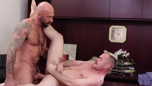 IconMale.com - Drew Sebastian and Trent Atkins kissing