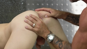 Icon Male: Jack Dyer and Zak Bishop butt fuck in office