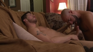 Icon Male - Damon Andros among Ty Roderick reality blowjob cum