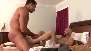 IconMale: Adam Russo & hairy Nick Capra ass fucking sex tape
