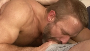 IconMale: Wolf Hudson and Dirk Caber rides a hard dick