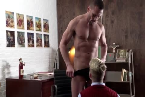 blonde Catholic Schoolboy acquires Nailed bareback By Priest