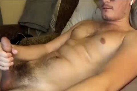 Masturbating And Touching His taut bushy chocolate hole