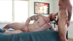 NextDoorOriginals: Pierced Trevor Miller kissing masturbation