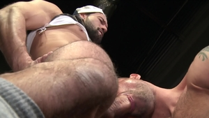 Extra Big Dicks: Brunette Alexander Garrett touches big cock
