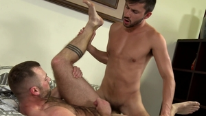 PrideStudios.com - Gay Scott DeMarco jerking Aiden Hart