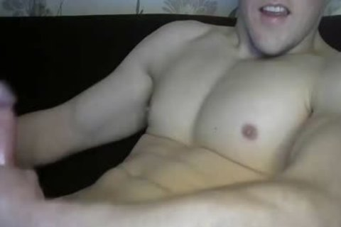 Muscle lad Jerks Off Until he ejaculates