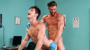 HotHouse.com: Dirty Ryan Rose and Devin Franco 3some in office