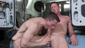 Falcon Studios: Star Quin Quire licking Pierce Paris