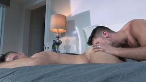 Falcon Studios - Teasing with thick chinese hunk Tyler Roberts