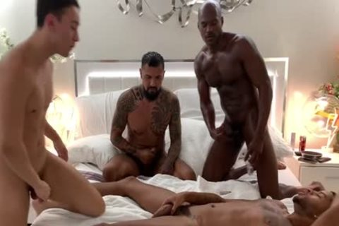 gangbang fuckfest Of homosexuals sucking penises And Loving