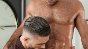 Drill My Hole: Ryan Rose next to Diego Sans oiled handjob