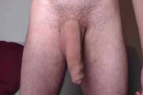 French chap Plays With His large enormous penis