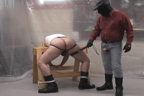 Masked dom bare ploughs his subordinate