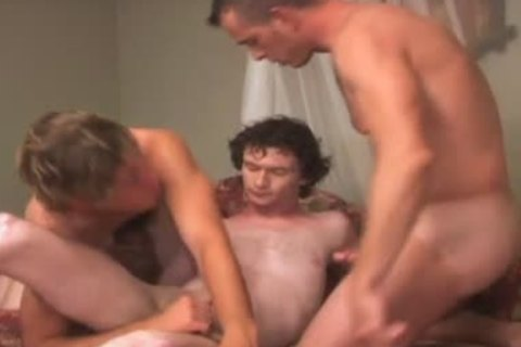 raw pooper plow three-some with Daddy ribald